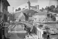 Schaffhausen, Bau einer neuen Rheinbrücke; 1962