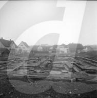 Überreste eines Kornspeichers in Windisch, 1959