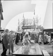 43. Marché-Concours Saignelégier, Eingang mit Kasse, 1946