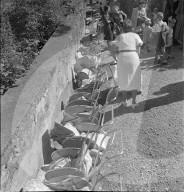 Parkierte Kinderwagen, Rutenzug Brugg 1945