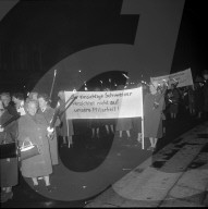 Demonstration am Frauenstimmrechtstag, 1961