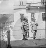 Schweizer Grenze in Chiasso gegen Kriegsende 1945