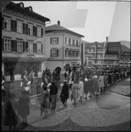Bütschwil empfängt Bundespräsident Thomas Holenstein; 1957