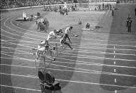 OS Helsinki 1952: vorne Dillard, Sieger 110m Hürden