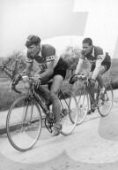 Meisterschaft von Zürich 1948: Luciano Maggini und Hugo Koblet