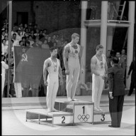 Olympische Spiele Rom 1960: Siegerehrung des Mehrkampfs