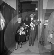 Ludwig von Moos nach seiner Wahl zum Bundespräsidenten; 1963
