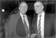 Christoph Blocher mit seinem Bruder Gerhard Blocher 1995