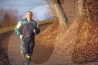 Christoph Blocher beim Joggen