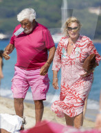 PEOPLE - Mario Adorf und Monique im Club 55 in Saint Tropez