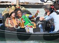 PEOPLE - Models beim Filmen der jüngsten Gucci-Kampagne in einer Gondel in Venedig