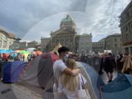 NEWS - Bern: Klimacamp vor dem Bundeshaus