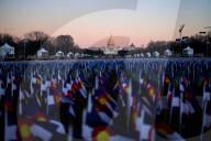 NEWS - USA: Flaggen säumen die National Mall vor der Amtseinführung von Joe Biden