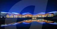 FEATURE - Nachtansicht des beleuchteten neuen Grand Theatre in Nantong, China