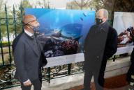 ROYALS -  Fürst Albert von Monaco besichtigt die Fotoausstellung der UNESCO