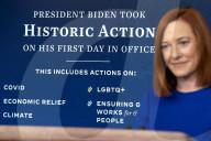 NEWS - USA: Die neue Pressesprecherin des Weissen Hauses , Jen Psaki, bei ihrem ersten Briefing
