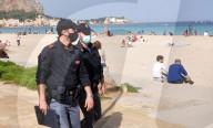 NEWS - Sommerliche Temperaturen am Strand in Palermo