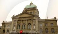 NEWS - 50 Jahre Frauenstimmrecht in der Schweiz: Beflaggtes Bundeshaus