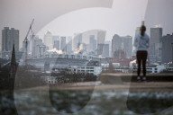 NEWS - Sonnenaufgang in London bei Eiseskälte