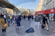 NEWS - Bettler während der Kältewelle in Paris