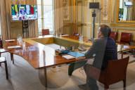 NEWS -  Emmanuel Macron hält Videokonferenz mit den fünf Staatschefs der Sahel-Staaten ab