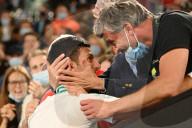 SPORT - Tennis: Novak Djokovic jubelt nach seinem Sieg im Herreneinzel-Finale in Melbourne