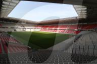 SPORT - Bundesliga: Neues Stadion des SC Freiburg im Freiburger Wolfswinkel ist fast fertiggestellt