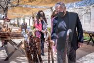 ROYALS - Rania und Abdullah besuchen einen Markt mit Kunst- und Handwerksprodukten in Amman