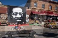 NEWS - Ein Ort des Gedenkens: George Floyd Square an der Ecke 38. und Chicago In Minneapolis, Minnesota