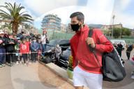 PEOPLE - Novak Djokovic bei einem Fotoshooting für die Marke Lacoste im Tennisclub von Menton