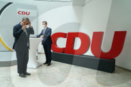NEWS -  Rückendeckung durch Präsidium und Vorstand der CDU: Parteichef Armin Laschet bei der Pk in Berlin