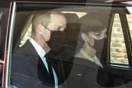 ROYALS - Beerdigung von Prinz Philip: Prinz William und Catherine auf dem Weg zum Windsor Castle