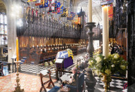 ROYALS - Beerdigung von Prinz Philip: Queen Elizabeth in der St Georges Chapel