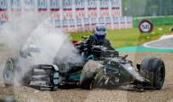SPORT -  Formel 1: GP Imola - Crash
