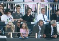 PEOPLE - David, Victoria, Brooklyn, Harper und Cruz Beckham am Fussballspiel von Inter Miami gegen LA Galaxy