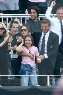 PEOPLE - Die Familie Beckham am Fussballspiel von Inter Miami gegen LA Galaxy