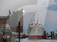 FEATURE - Pink Moon: Der Supermond über Hamburg