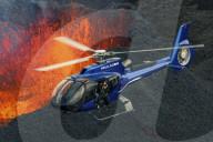 FEATURE - Gefährlich: Helikopter fliegt über aktiven Vulkan auf La reunion