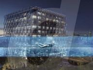 """FEATURE - Der weltweit erste """"schwebende"""" Sky-Pool mit Glasboden  über den Strassen von London wird im Mai eröffnet"""