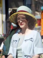 PEOPLE - Dreharbeiten zu 'The Marvelous Mrs. Maisel' Staffel 4 im Coney Island Vergnügungspark