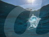 NEWS - Coronavirus: Chirurgische Masken und Plastik im Meer in Ladispoli bei Rom