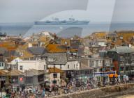 NEWS - G7-Gipfel in Cornwall: Britische Kriegsschiffe sichern den Tagungsort von See her