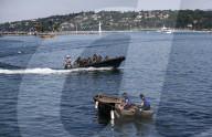 NEWS - Genf:  Patrouillen auf dem Genfersee vor dem Treffen Putin-Biden