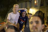 EURO 2020 -  Französische Fans verfolgen das Spiel Frankreich-Deutschland in Paris
