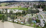 NEWS - Hochwasser Schweiz: Campingplatz Reussbrücke in Ottenbach überflutet