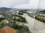 NEWS - Hochwasser Schweiz: Zusammenfluss von Aare, Reuss und Limmat