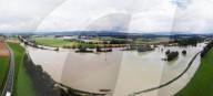 """NEWS - Schweiz: Hochwasser im """"Wasserschloss"""" bei Lauffohr AG"""