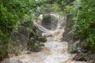 NEWS - Aufräumungsarbeiten nach Sturzflut in Hallein, Österreich