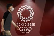 TOKIO 2020 - Logos in Tokio für die Olympischen Spiele
