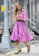 """PEOPLE - Sarah Jessica Parker am Set von """"And Just Like That"""" in New York City"""